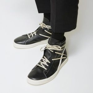 NWB RICK OWENS Leather Thrasher Sneaker